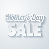 istock Mother's Day Sale. Icon with paper cut effect on blank background 1318494768