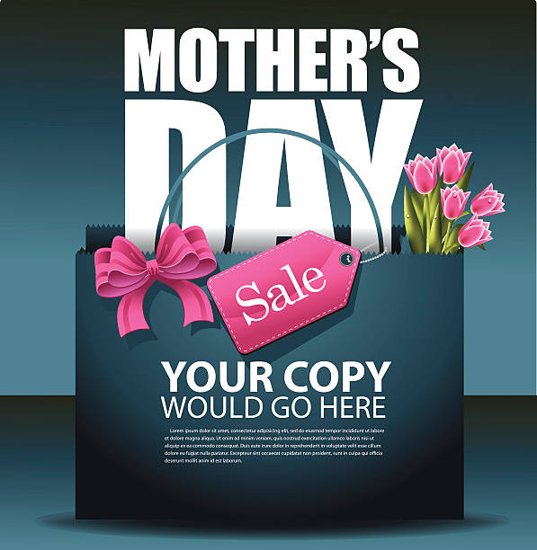 Mothers Day sale shopping bag background EPS 10 vector vector art illustration