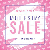 Mother's Day Sale special offer template for business, promotion and advertising. - Illustration