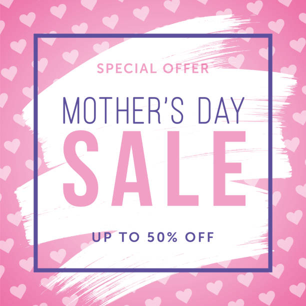 Mothers Day Storewide Sale Template: Royalty Free Gift Tag Note Clip Art, Vector Images