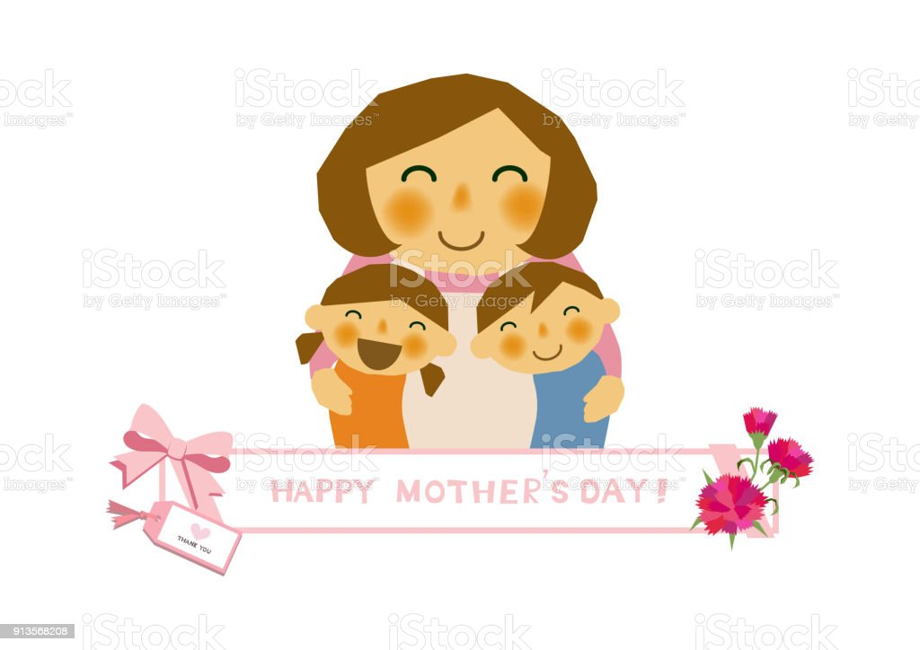 mothers day sticker parent child stickers clip art of mother and