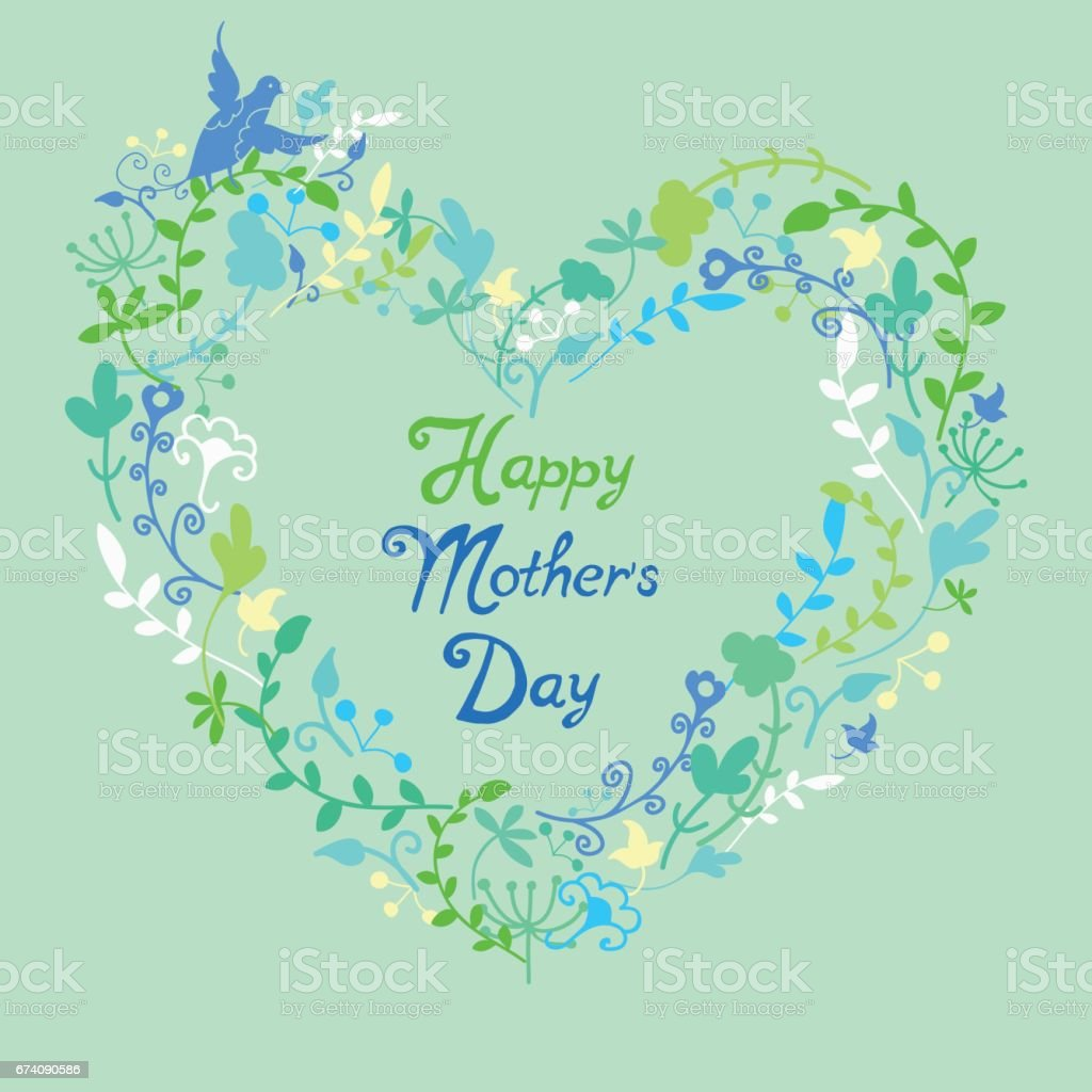 Mother's Day Template, greeting card with floral background. royalty-free mothers day template greeting card with floral background stock vector art & more images of art