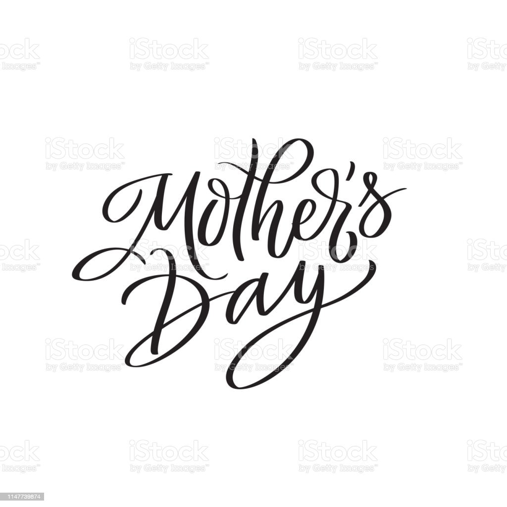 Mothers day text modern calligraphy. Graphic print hand writing,...