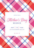 Mothers Day themed invitation design template. stock illustration