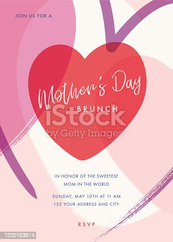 istock Mothers Day themed invitation design template. stock illustration 1220153514