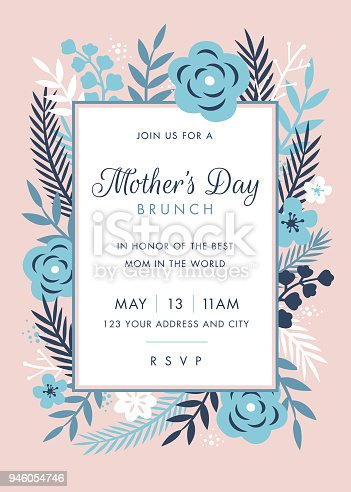 istock Mothers Day themed invitation design template 946054746