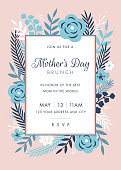 Mothers Day themed invitation design template