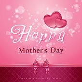 Beautiful mother's day vector art design. This illustration contains a transparency EPS10. Come with layers for easy editing. Zip include hires jpeg & AICS4 file.