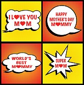 Mother's Day with speech buble.. PDF file is included.