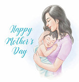 istock Mother's Day Watercolor Style Illustration 1219661644