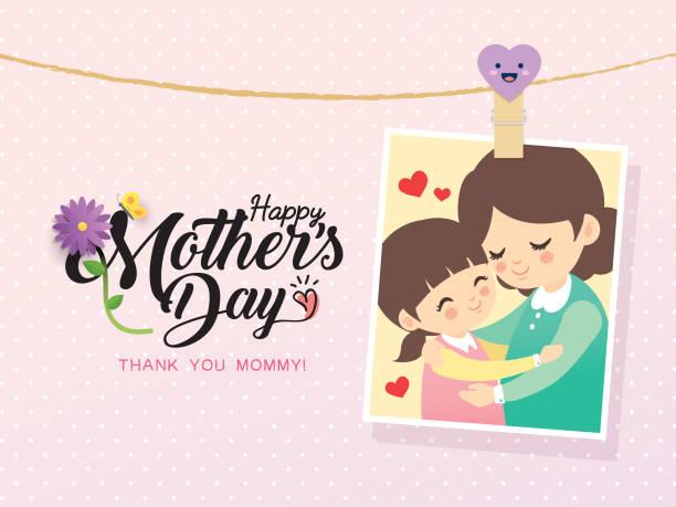 母親の day_2018_1 - 家族写真点のイラスト素材/クリップアート素材/マンガ素材/アイコン素材