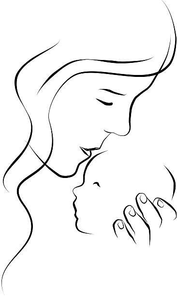Mothers love vector art illustration