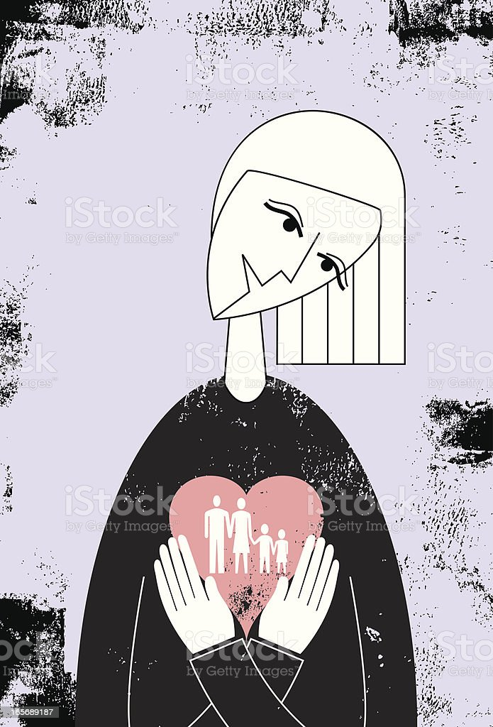 mother's love royalty-free stock vector art