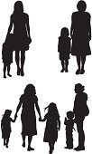 istock Mothers with their children 165750082