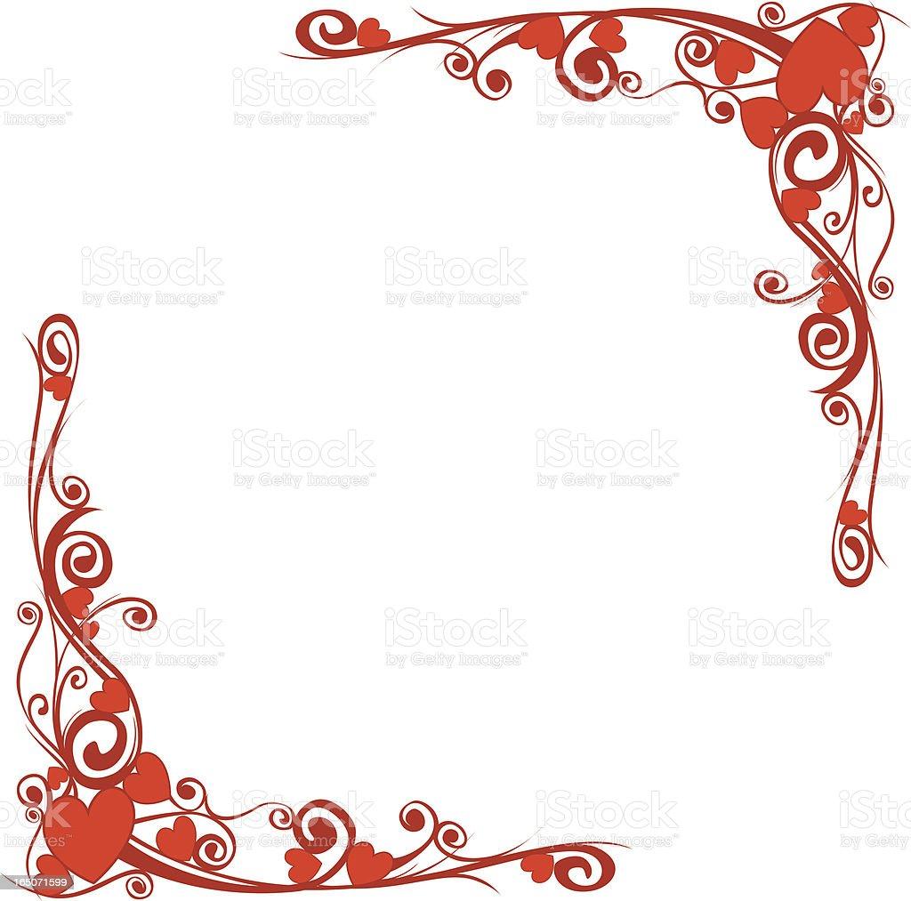 motif heart border royalty-free motif heart border stock vector art & more images of corner