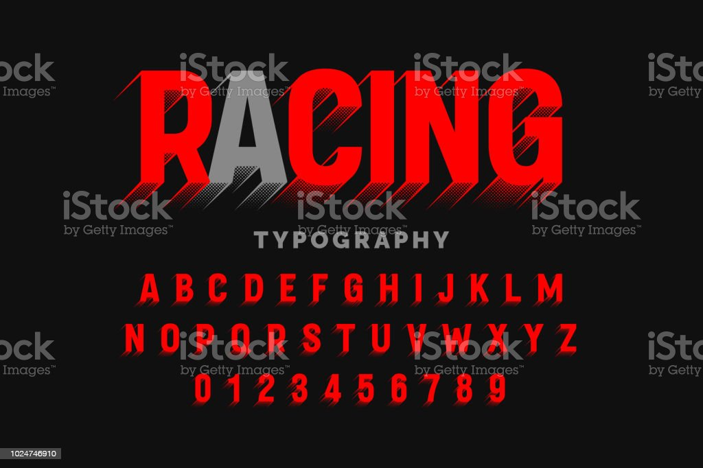 Motion effect font design vector art illustration