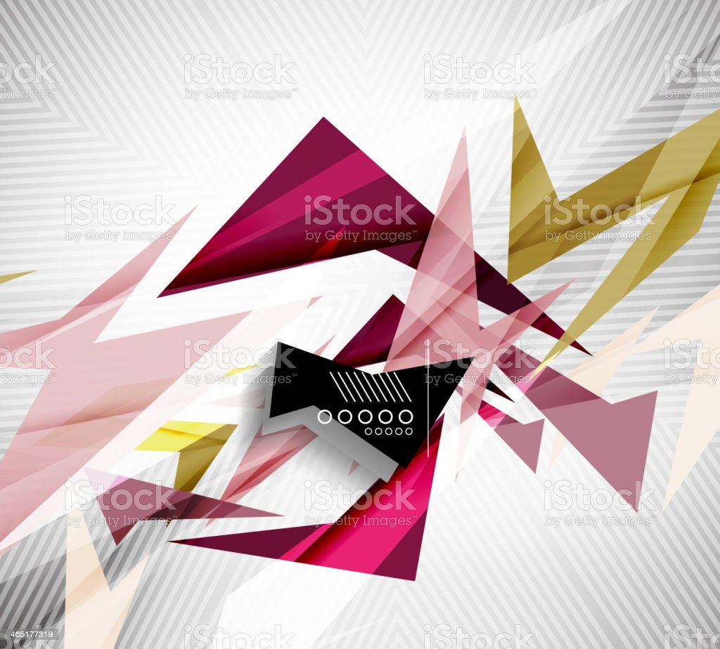 Motion geometric shapes - rapid straight lines royalty-free stock vector art