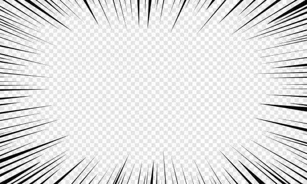 ruch linii promieniowych. - efekty fotograficzne stock illustrations