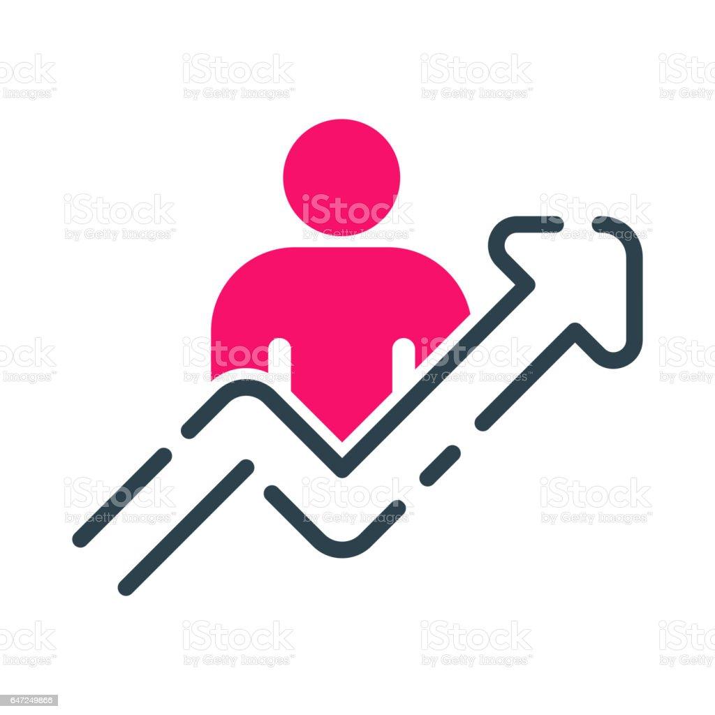 Motivationkonzept Diagramm Icon Business Strategie Entwicklung ...