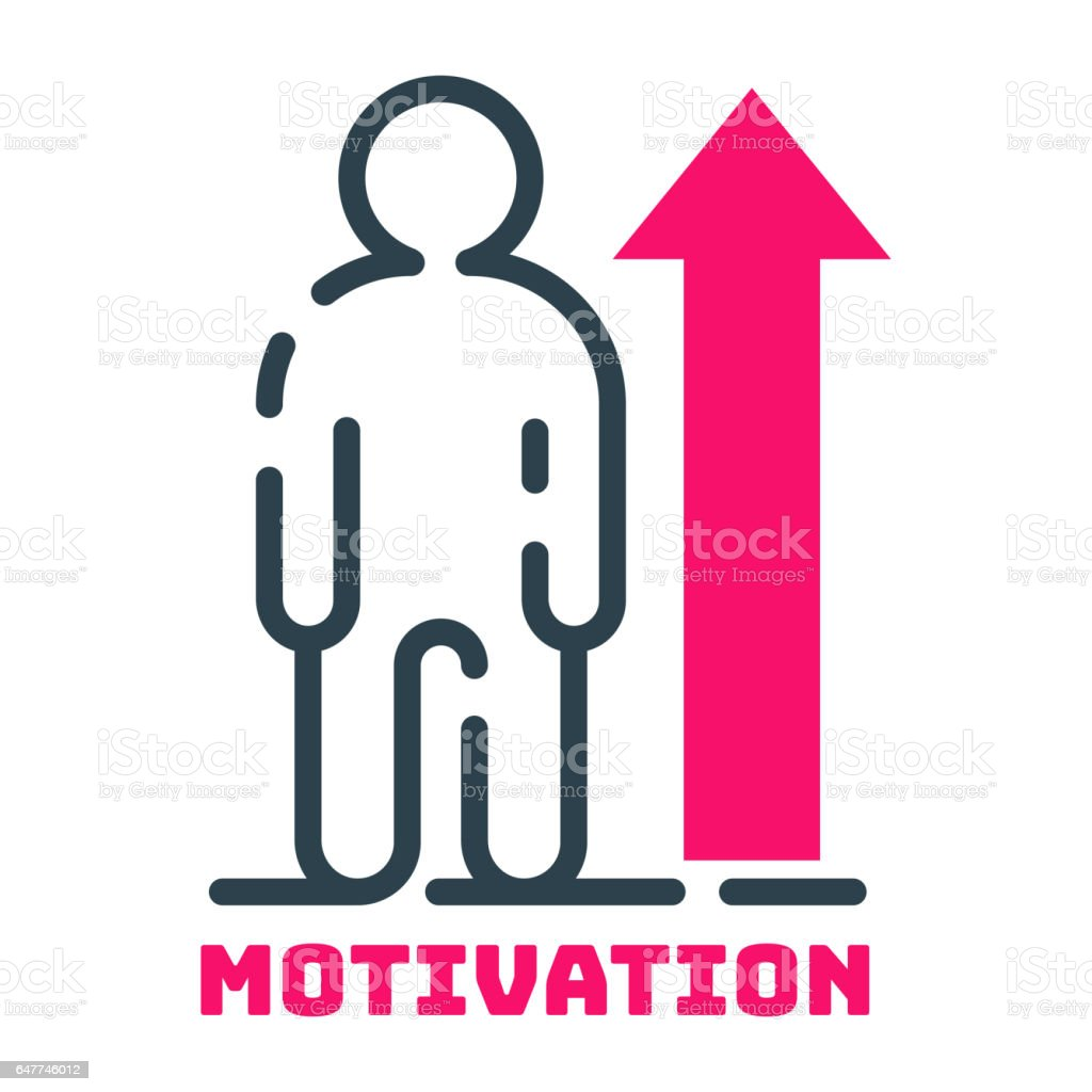 Motivationkonzept Menschlichen Diagramm Icon Business Strategie ...