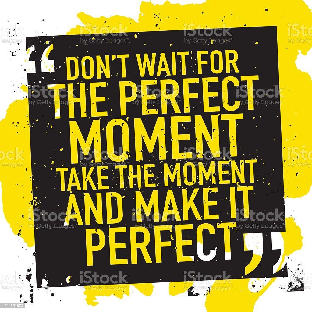 Motivation concept motivational quote poster vector art illustration