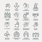 Motivation Icon Set - Line Series
