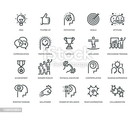 Motivation Icons - Line Series