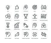 Motivation Icons - Line Series