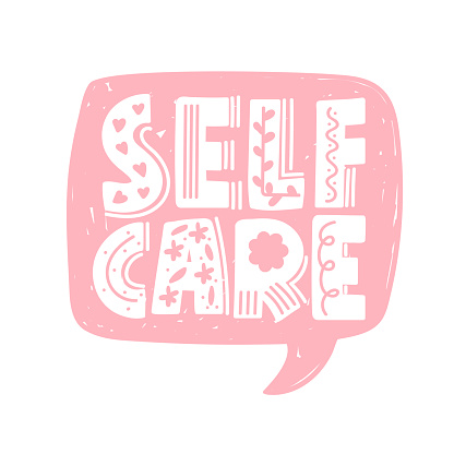 Motivational calligraphy phrase. Self care, self acceptance, love yourself concept.