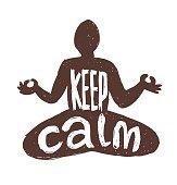 "Motivational card ""Keep calm"""