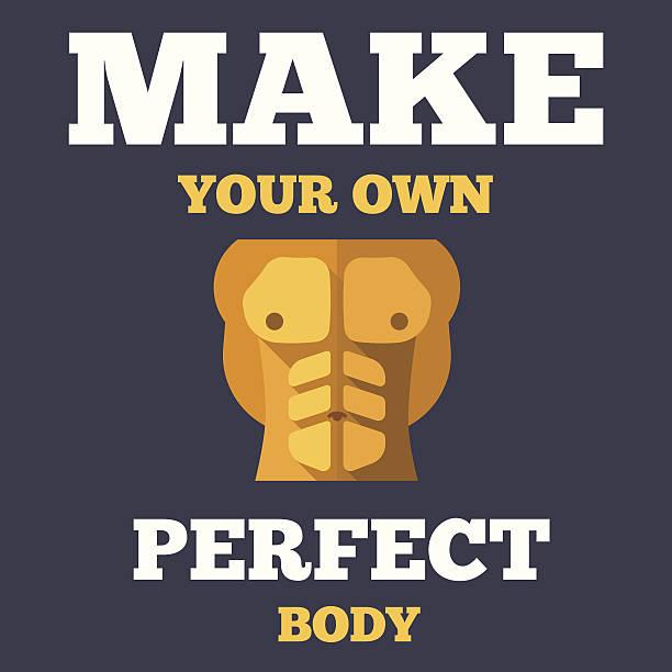 Motivational fitness poster vector art illustration