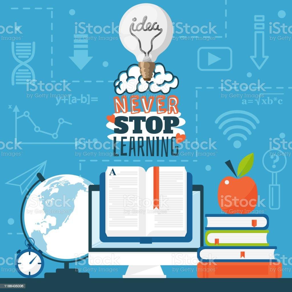Ilustración De Cartel Motivacional Sobre Educación