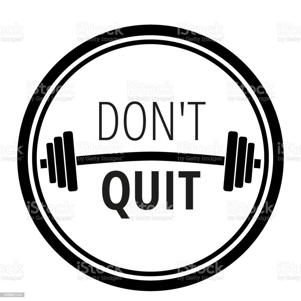 Vetores De Frase Motivacional Sobre Ginásio De Fitness Workout E Musculação Tipografia Do Conceito De Motivação Vector Illustration E Mais Imagens De
