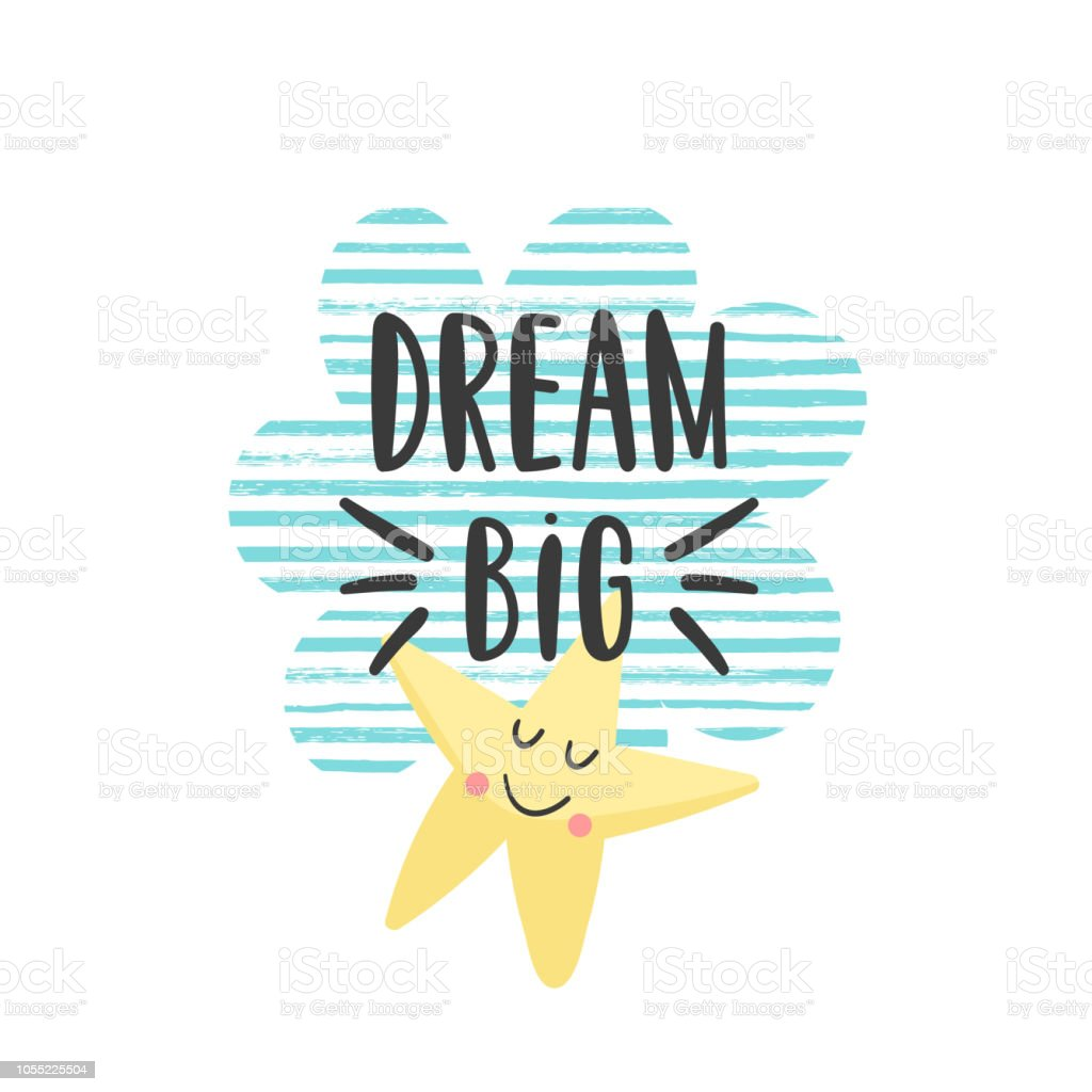 Motivational Quote For Kids Stock Illustration Download Image