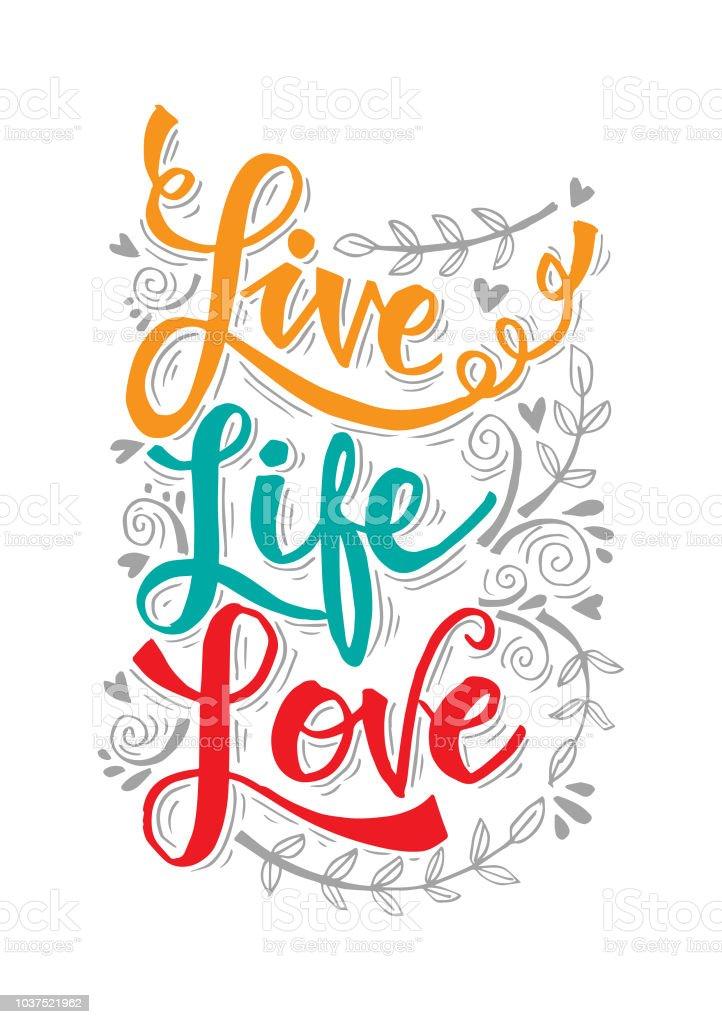 Vetores De Frase Motivacional Da Live Vida Amor E Mais