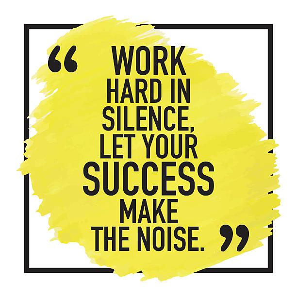 Motivational Success Quote Poster Design Motivating, motivational quote phrase sayings poster background design about success. short phrase stock illustrations