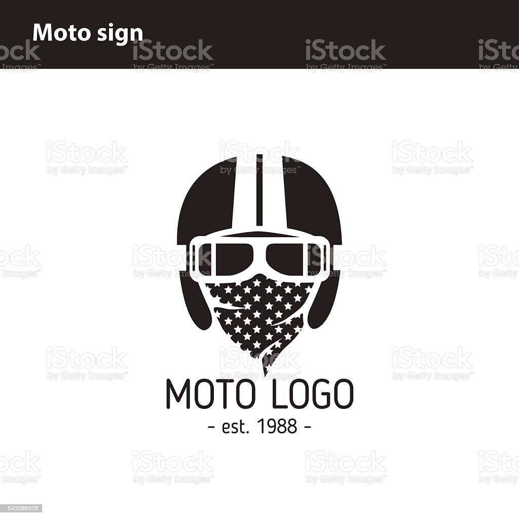 Moto logo Workshop vector art illustration