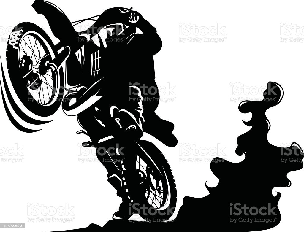 motoaction vector art illustration
