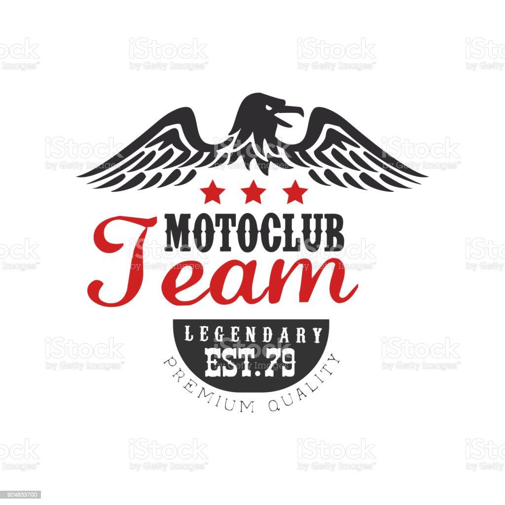 Motoclub Team Logo Legendary Est 1979 Premium Quality Design Element