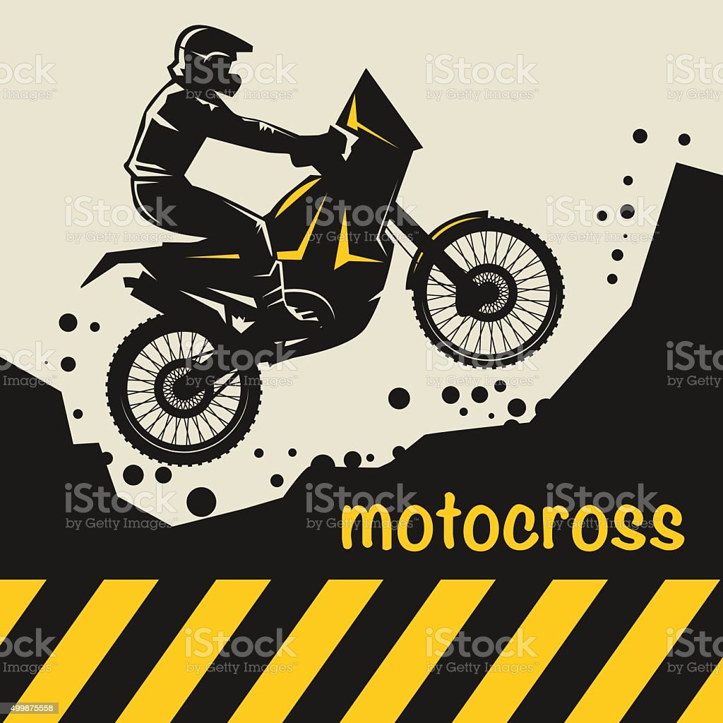 Motocross abstract background vector art illustration