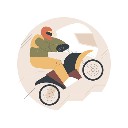 Motocross abstract concept vector illustration.