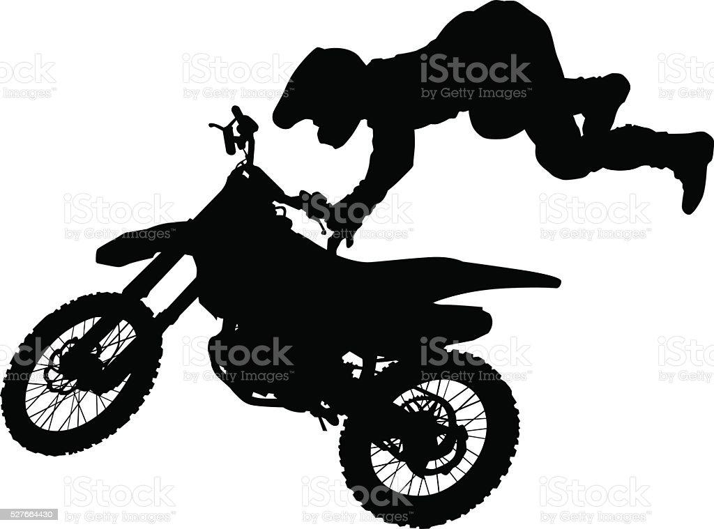 Motocross eight vector art illustration