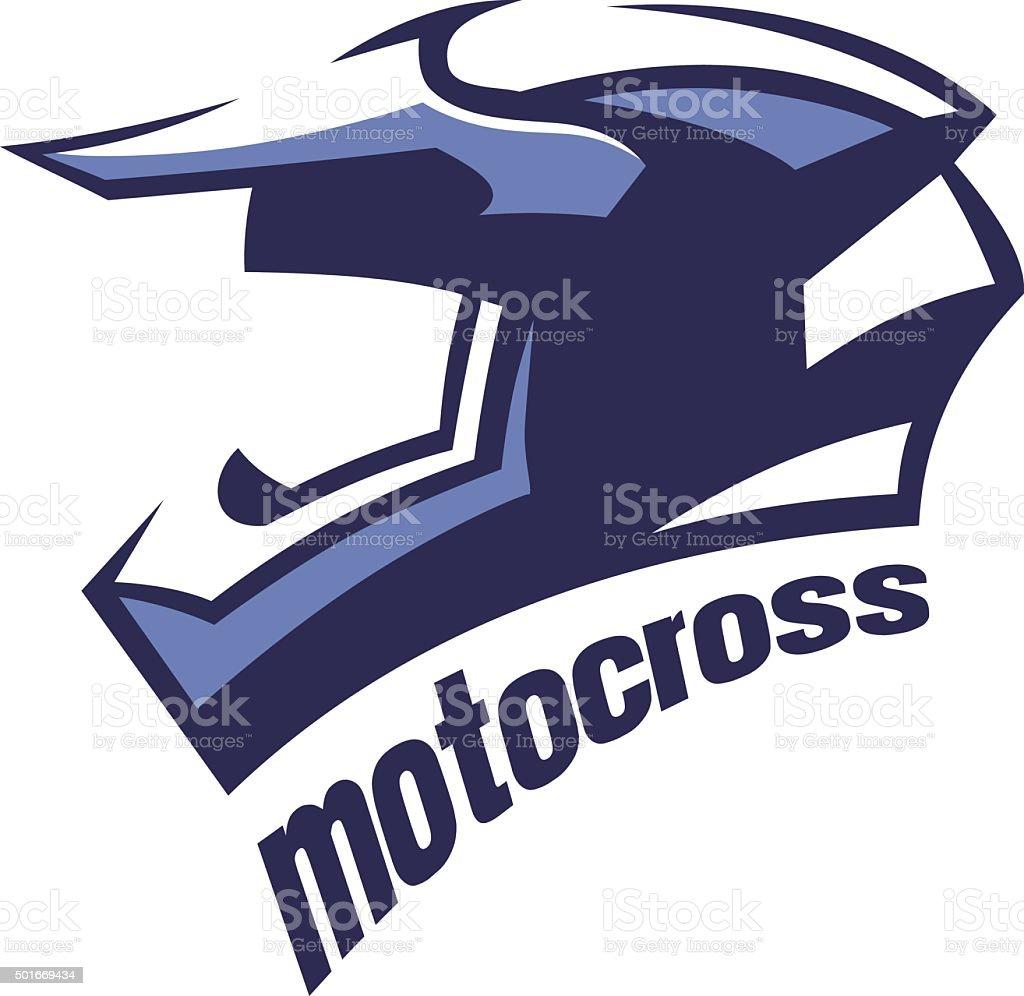 motocross helmet vector art illustration