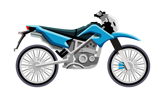 Motocross motorcycle isolated on white background