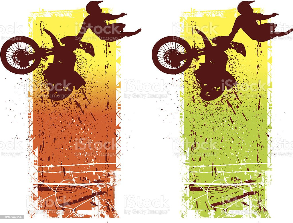 Motocross Racer in Mid-Air royalty-free motocross racer in midair stock vector art & more images of abstract