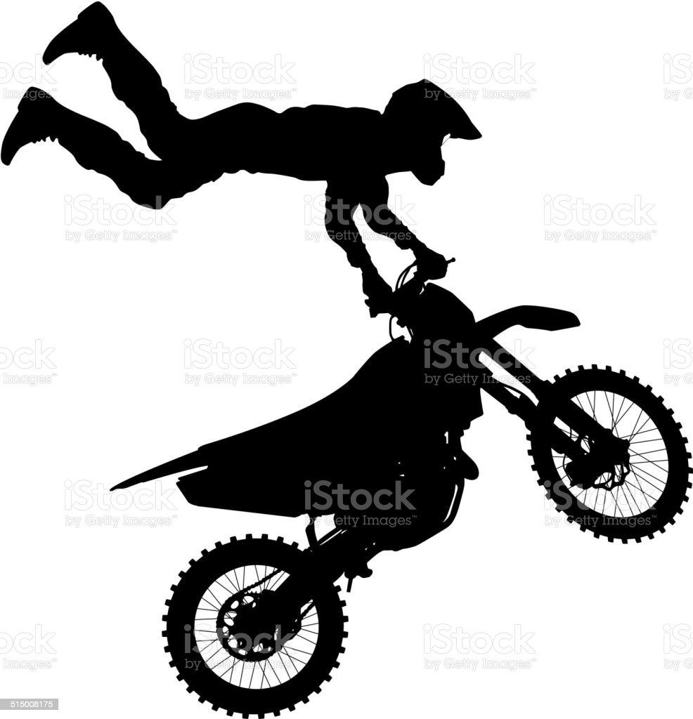 Vetores De Motocross Rider Em Uma Moto E Mais Imagens De Adulto Istock