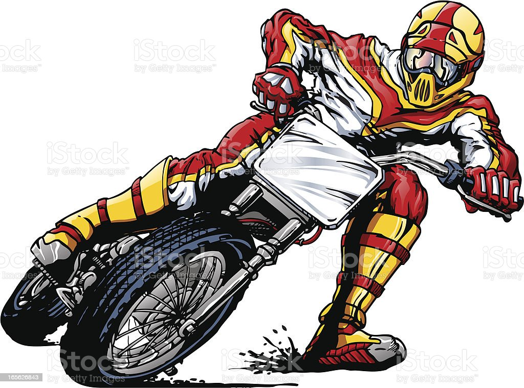 Motocross Rider vector art illustration