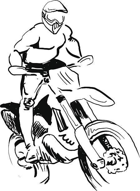 motocross rider. vector art illustration