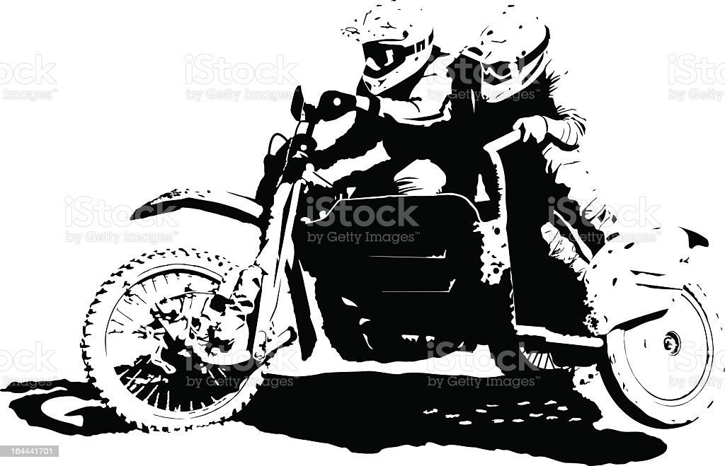 Sidecarcross Illustration : Istockphoto