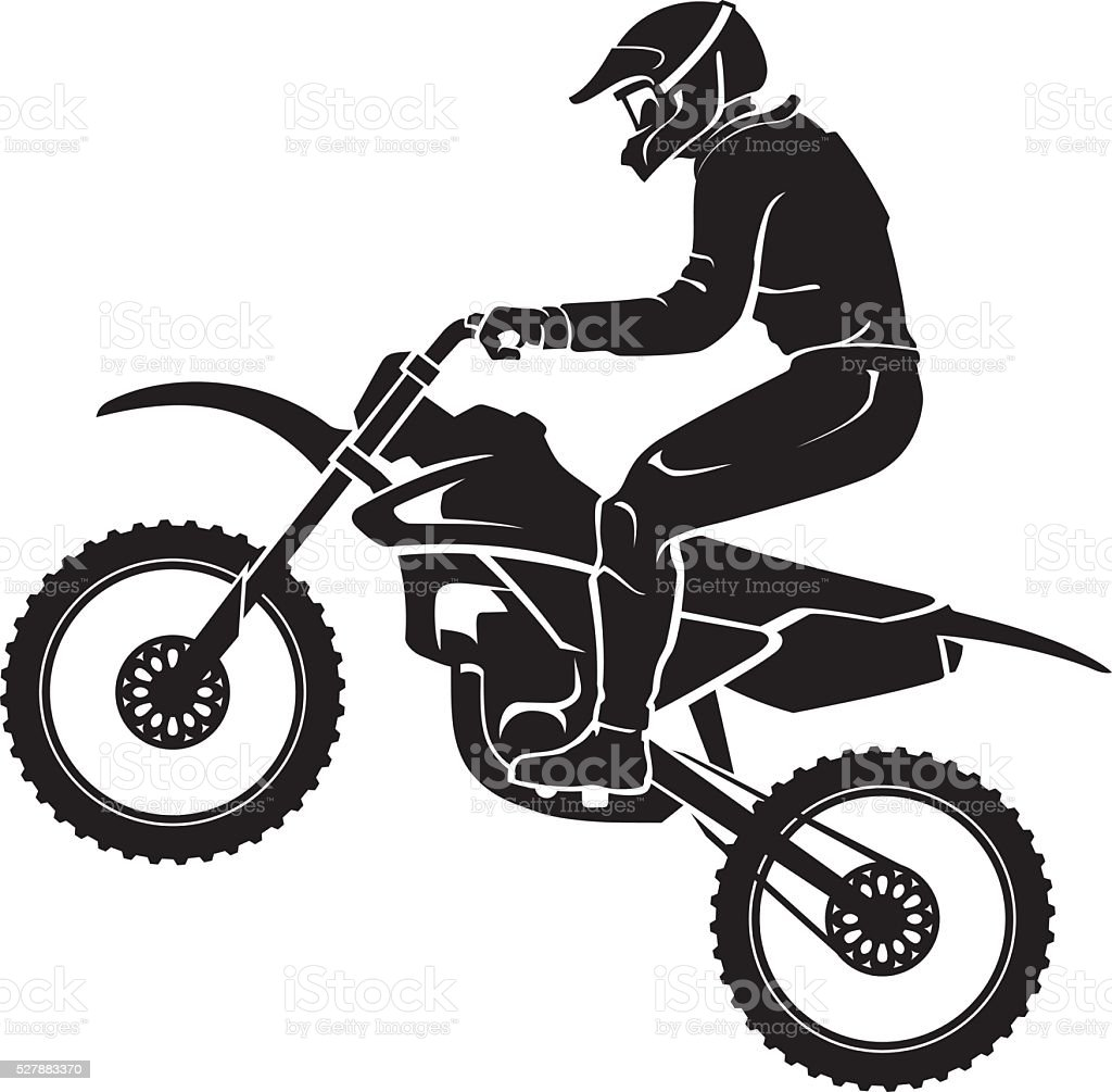 Motocross Sport Silhouette vector art illustration